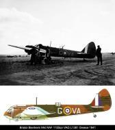 Asisbiz Bristol Blenheim IF RAF 84Sqn VAG L1381 warming up at Menidi Tatoi Greece 1941 0A