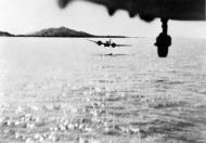 Asisbiz Bristol Blenheim IVF RAF 60 Sqn flying low to attack a Japanese coaster off Akyab Burma 11 October 1942