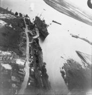 Asisbiz Bristol Blenheim RAF 226Sqn flying low over their target at Rotterdam 16th Jul 1941 IWM C2055