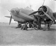 Asisbiz Bristol Blenheim VD RAF 614Sqn P BA783 dispersal area at Canrobert Algeria IWM CNA105