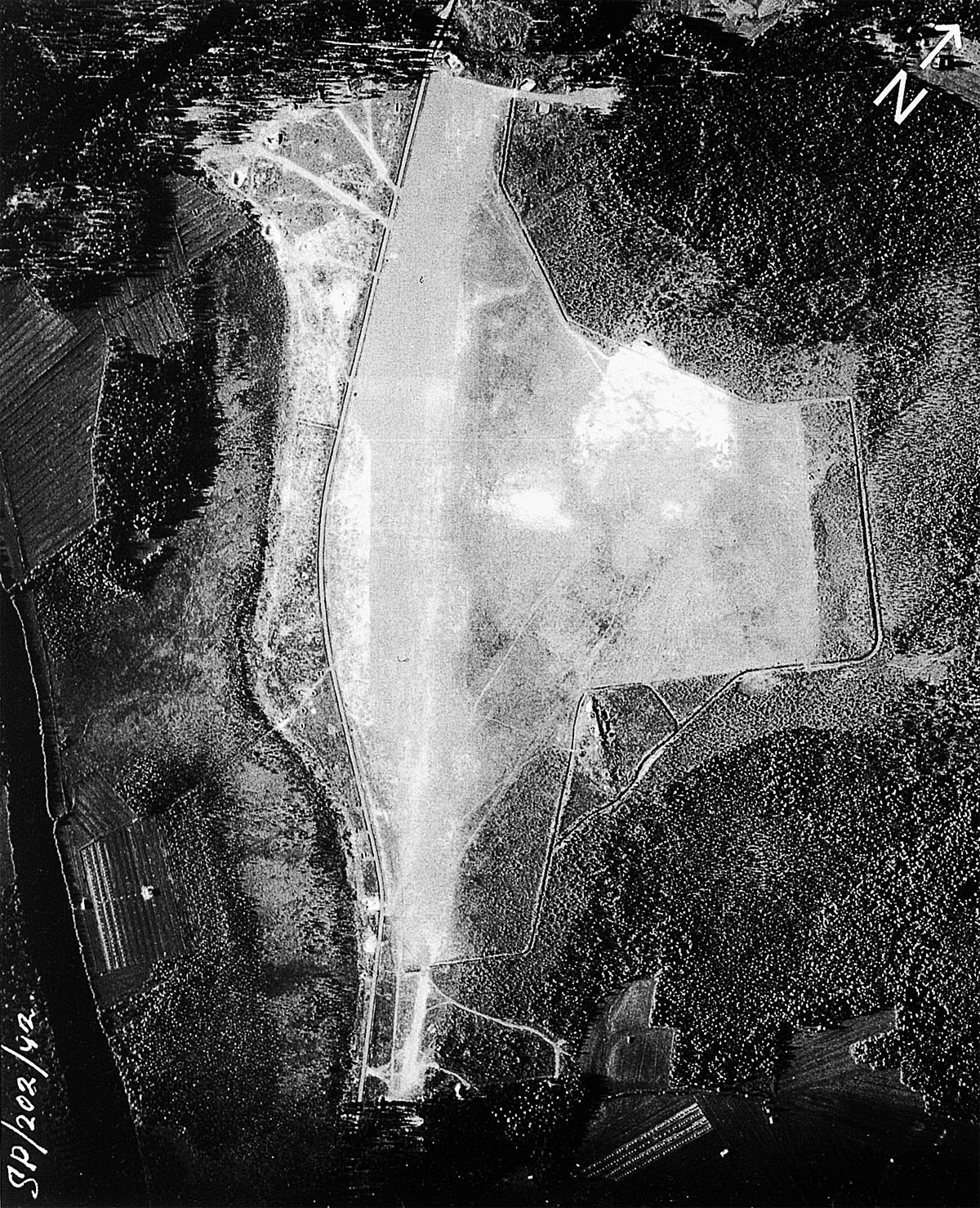 Aerial photo of the Finnish Air Force base at Vartsila Finland 1941 01