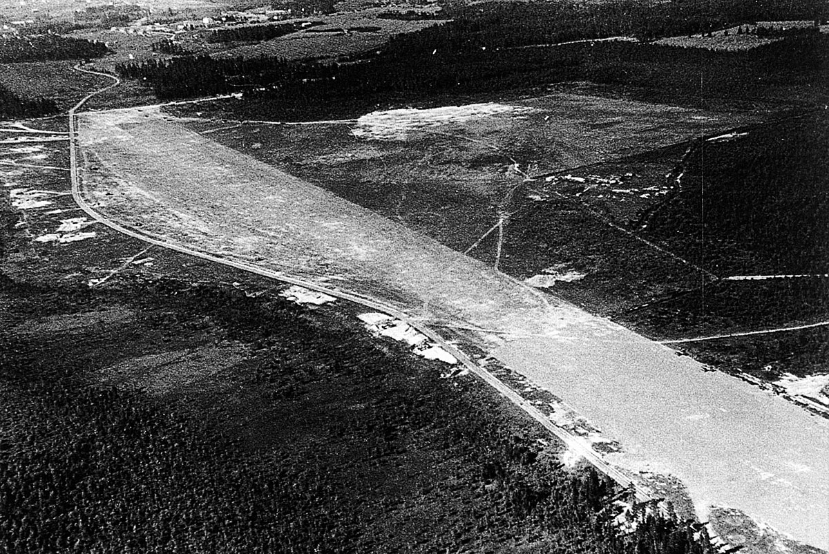 Aerial photo of the Finnish Air Force base at Vartsila Finland 1944 01