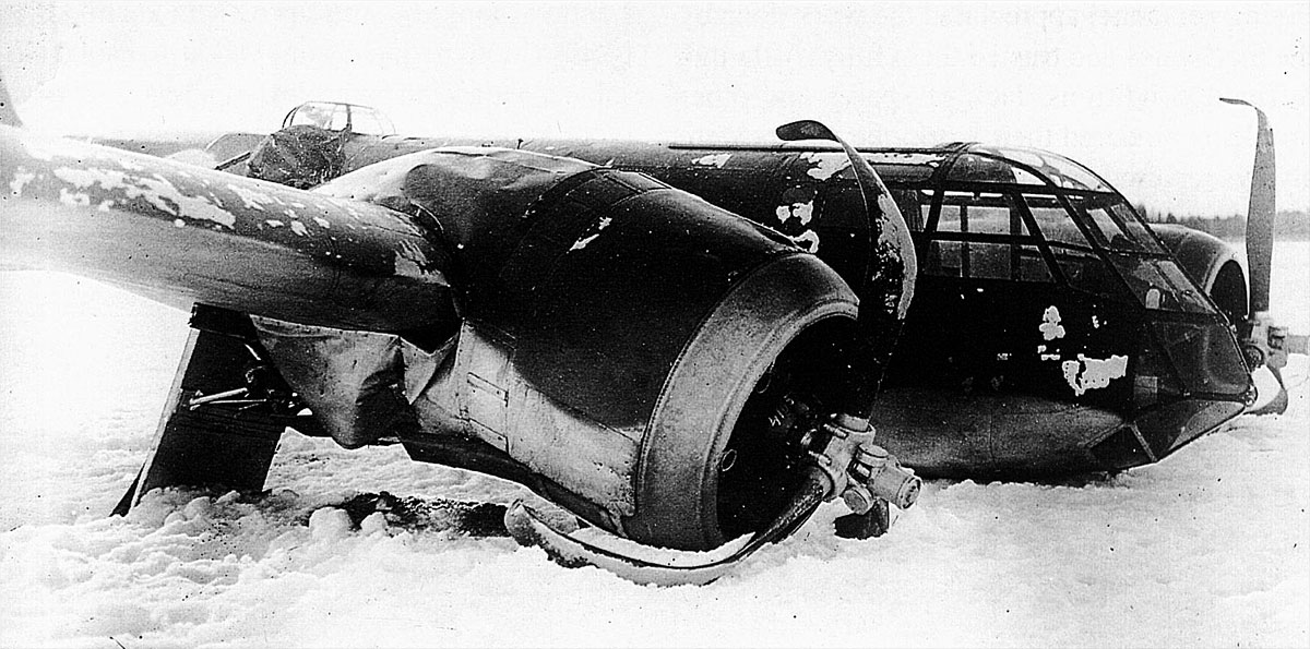 FAF LeLv42 BL115 had a malfunctioned ski which caused the crash at Vartsila Feb 1943 01