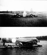Asisbiz FAF LeLv42 BL142 forced landed on a swamp at llomantsi 1st July 1943
