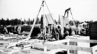 Asisbiz FAF LeLv42 BL151 being dismantled at Vartsila after being damaged during take off 25th May 1941