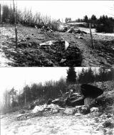 Asisbiz FAF LeLv42 BL152 ice up carburetors caused this take off crash Kuhilasvaara 7th Nov 1942