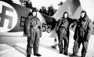 Asisbiz FAF LeLv42 BL155 crew T Kippola A Heilimo and M Immonen at Nurmoila Finland Mar 1944
