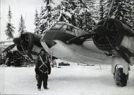 Asisbiz FAF LeLv42 BL157 crew Sgt Sulo Rikkinen and Sgt Valto Laurila at Vartsila 23rd Dec 1941