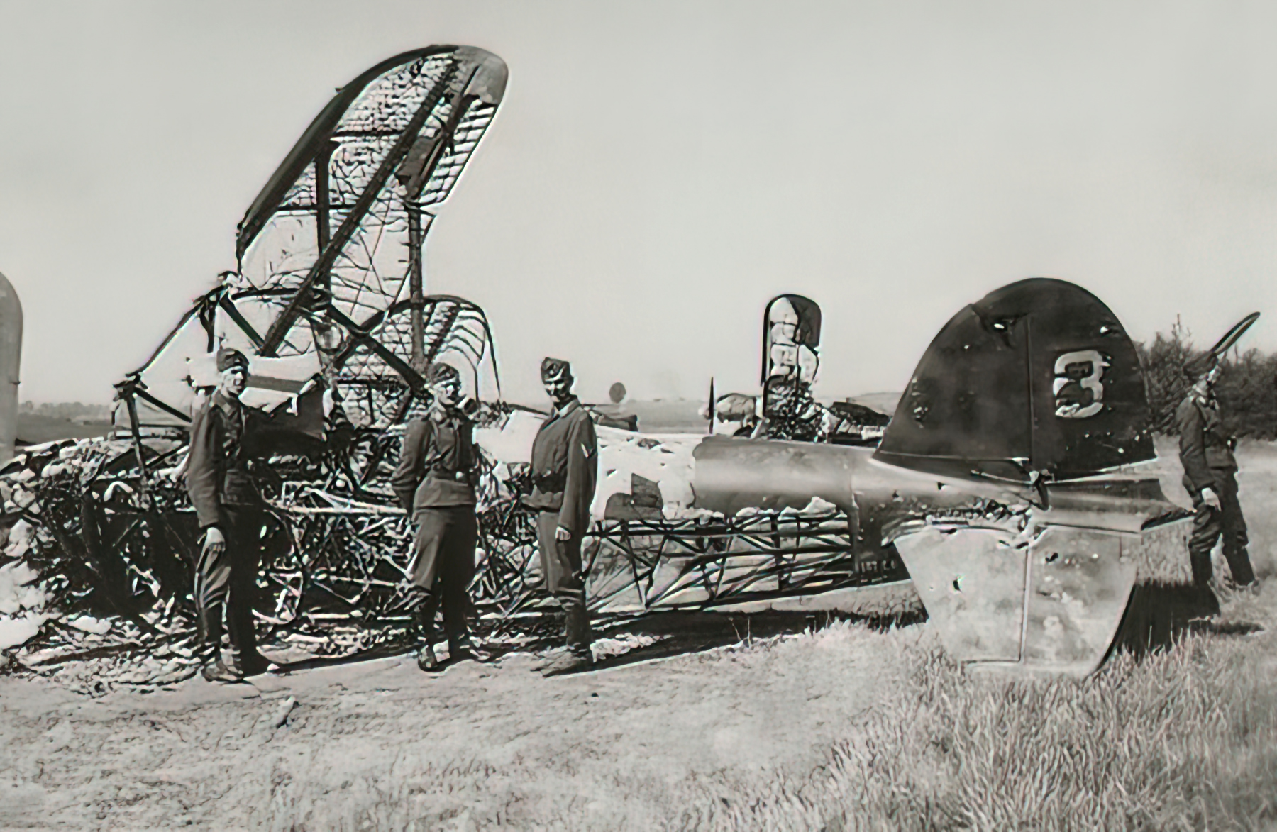 Fiat CR 42 Falco BAF IIFG3FS White 3 destroyed by strafing Belgium 1940 01