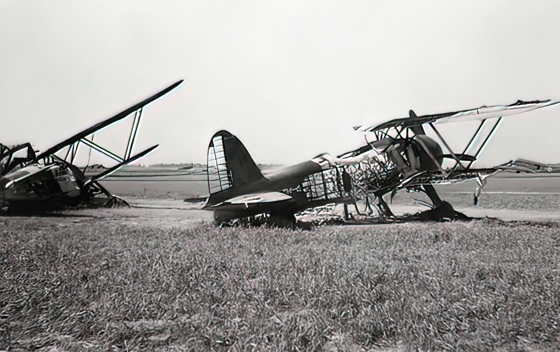Fiat CR 42 Falco BAF IIFG3FS White 3 destroyed by strafing Belgium 1940 02