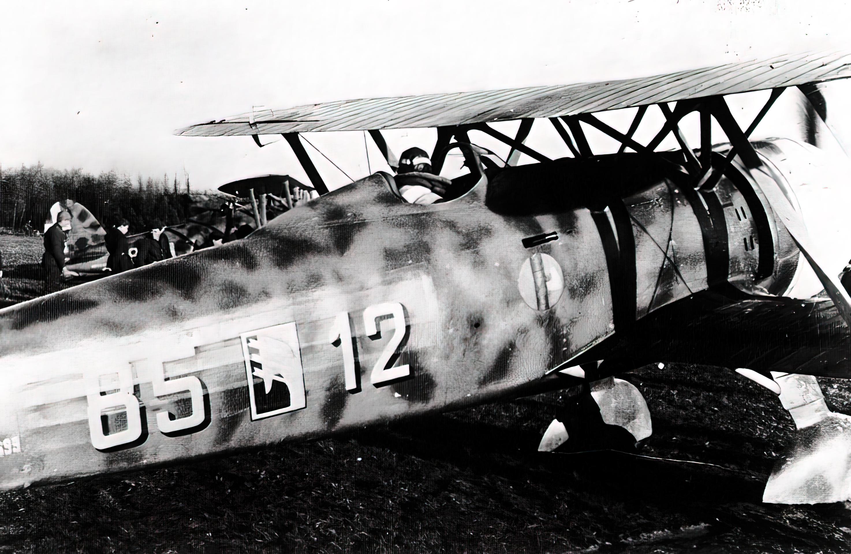 Fiat CR 42 Falco 18.JG56 18G56S85aSA 85 12 Ursel Belgium 1940 02