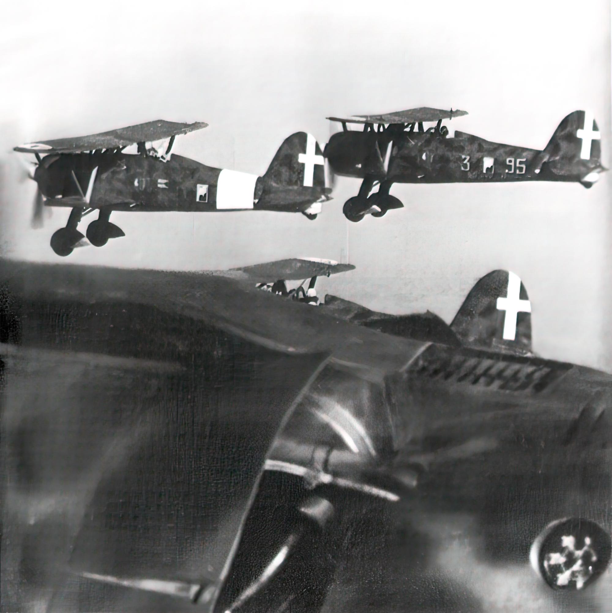 Fiat CR 42 Falco 18.JG56 18G56S85aSA 95 3 escort Fiat BR 20M to England 1940 01