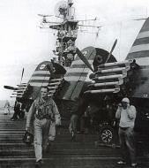 Asisbiz French Navy Vought F4U 7 Corsairs aboard French carrier La Fayette Operation Mousquetaire 1956 01