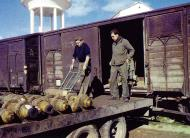 Asisbiz Munitions being off loaded from a train to Telergma Airport Algeria 01