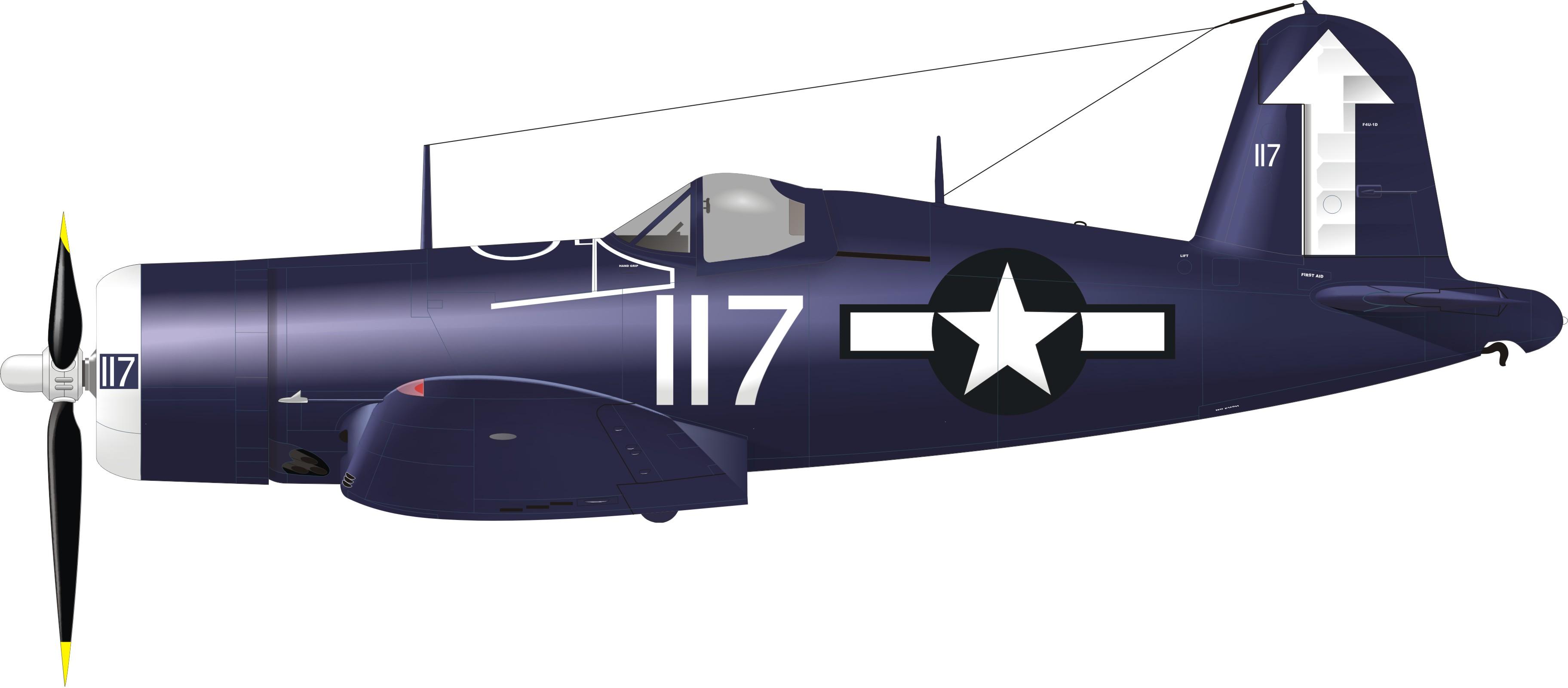 Vought F4U 1D Corsair VF 84 White