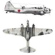 Asisbiz Ilyushin DB 3 1GvMTAP in winter camouflage 27th Feb 1943 0A