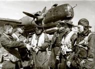 Asisbiz Ilyushin DB 3T 1GvMTAP with Maj Drozdov left preparing for their next mission 1942 01