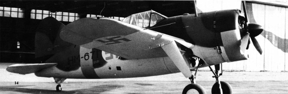 Brewster Buffalo FAF prototype Humu BW671 01
