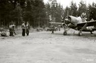Asisbiz Brewster Buffalo MkI FAF 2.LeLv24 emblem at Rantasalmi 8th Aug 1941 36695