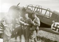 Asisbiz Aircrew FAF Luutn Kaar, Maj Ernroth, vanr Willebrandt at Parola Airport 10th Jul 1941 23803