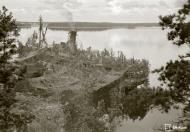 Asisbiz Finnish Navy Cargo ship very well camouflaged at Tuholma base on 31st Aug 1943 136252