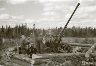 Asisbiz Finnish air defense 40mm anti aircraft gun man their positions at Tokari 20th Apr 1942 84128
