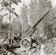 Asisbiz Finnish army artillery Howitzer in his position at Lempaala 7th Oct 1941 58040