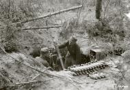 Asisbiz Finnish army mortor unit in operation NE side of Ladoga (Nietjarvi terrain) 22nd Jul 1944 156298