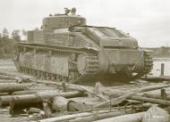 Asisbiz Finnish army using captured Soviet T28 and T26 tanks advance towards Vitele 11th Sep 1941 43873