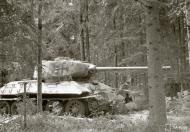 Asisbiz Finnish army with their restored Soviet T34 tank around Pihkalanjarvi 4th Jul 1944 152125