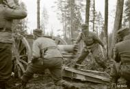 Asisbiz Finnish artillery supporting troops advance around Rukajarvi 24th May 1942 88961