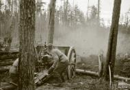 Asisbiz Finnish artillery supporting troops advance around Rukajarvi 24th May 1942 88966