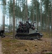Asisbiz Finnish captured Soviet Komsomolets T20 tank tractor moving to the front line at Lauritsala 21st Aug 1941 color 01