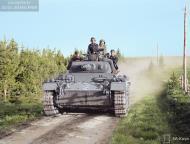 Asisbiz German Panzer III tanks moving to the front lines Vasonvaara 1st Jul 1941 22892c