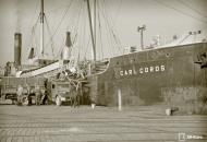 Asisbiz Kriegsmarine cargo ship SS Carl Cords unloading cattle at the port of Vyborg 24th Aug 1942 107107