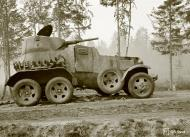 Asisbiz Soviet BA10 armored car neutralized with 5 hits to its engine east of Omelia 26th Jul 1941 28525