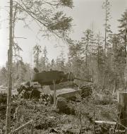 Asisbiz Soviet KV1 tank knocked out by a mine near Syvari power plant 19th Apr 1942 83980
