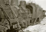 Asisbiz Soviet armored train destroyed by aerial bombardment Latva Aanislinna 19th Apr 1941 82634