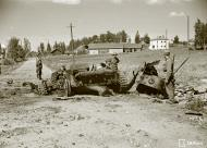 Asisbiz Soviet tank destroyed by a land mine near Enso 14th Jul 1941 26570