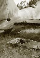 Asisbiz FAF Ilyushin DB 3 DB16 after being damaged by flak Lappeenranta 13th Jul 1944 01