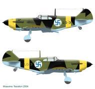 Asisbiz Finnish airforce LaGG 3 35 series Lelv32 LG3 based at Nurmoila late 1942 0A