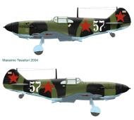 Asisbiz Finnish airforce LaGG 3 35 series Lelv32 LG3 was 524IAP White 57 recovered Nurmoila 14th Sep 1942 0A