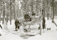 Asisbiz Soviet Lavotsk Gorbunov Gudkov LaGG 3 Red 33 sd by air defenses in the Nurmoila forest 24th Feb 1942 10589