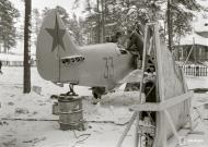Asisbiz Soviet Lavotsk Gorbunov Gudkov LaGG 3 Red 33 sd by air defenses in the Nurmoila forest 24th Feb 1942 10590