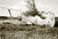Asisbiz Soviet Polikarpov I 153 Red 12 captured and used by the FAF as VH101 25th Jun 1941 20618