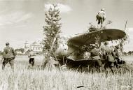 Asisbiz Soviet Polikarpov I 153 Red 12 captured and used by the FAF as VH101 25th Jun 1941 20619