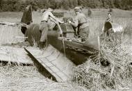 Asisbiz Soviet Yakovlev Yak 7 Red 38 belly landed Pitkarannan 9th Jul 1944 06