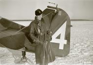 Asisbiz Aircrew FAF pilot Lt Ture Mattila by the rudder of his aircraft at Utti 15th Nov 1941 67636