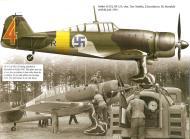 Asisbiz Fokker D XXI FAF 2.LeLv30 FR125 Tiiksjarvi Finland July 1941 0A