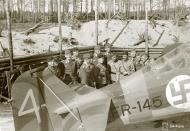 Asisbiz Fokker D XXI FAF 2.LeLv30 FR145 Tiiksjarvi Finland 31st May 1942 03